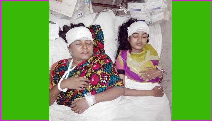 মঠবাড়িয়ায় স্কুল ছাত্রী ও তার মাকে কুপিয়ে জখম, শ্লীলতাহানী ॥ থানায় মামলা